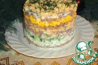 Рецепт: Слоеный салат из утки