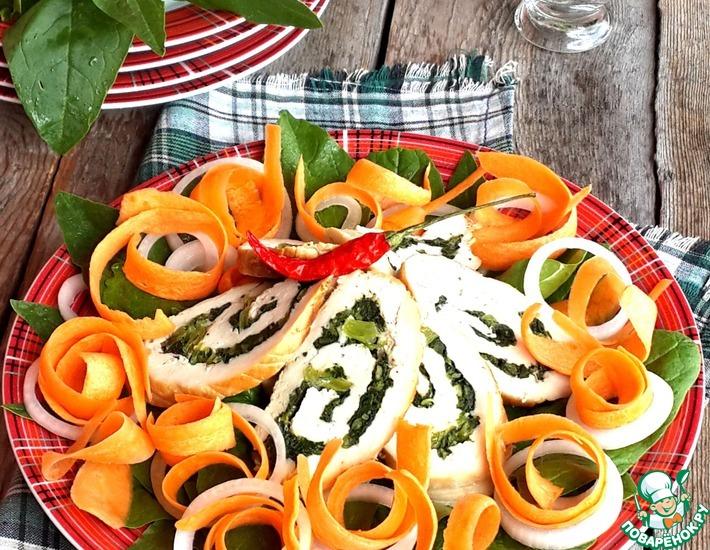 Рецепт: Куриный салат Рыжекудрая Хэтти