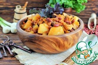 Рецепт: Овощное рагу с фасолью и курицей