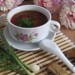 Суп со свекольной ботвой и фасолью