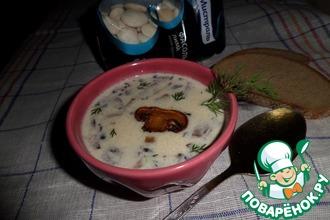 Рецепт: Суп с белой фасолью и грибами