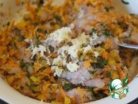 Венок из куриного фарша с яйцами ингредиенты