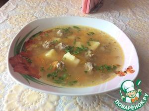 """Суп """"Весенняя фрикаделька"""" – кулинарный рецепт"""