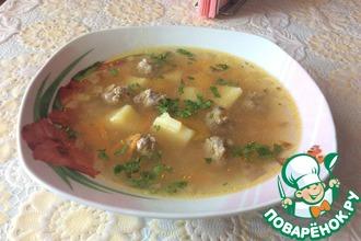 Рецепт: Суп с фрикадельками Мамин