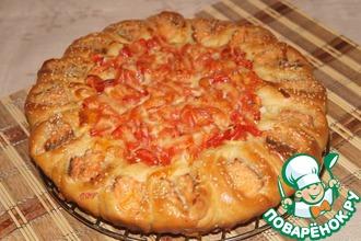 Рецепт: Пирог с семгой и овощами