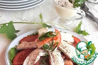 Рецепт: Салат с курицей и грибами