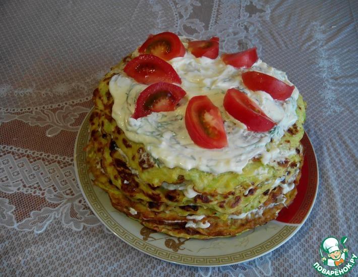Рецепт: Кабачковый торт с плавлеными сырками