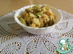 Кабачки с цветной капустой на сковороде | Волшебная Eда.ру