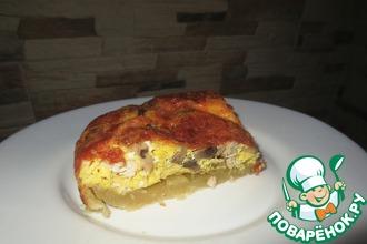 Рецепт: Киш с мясом, грибами и сыром