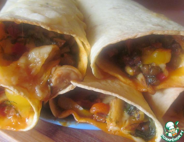 Рецепт: Бурито овощное