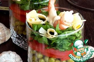 Рецепт: Салат в стакане Для жены моряка