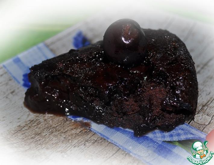 Рецепт: Быстрый шоколадный пирог без яиц