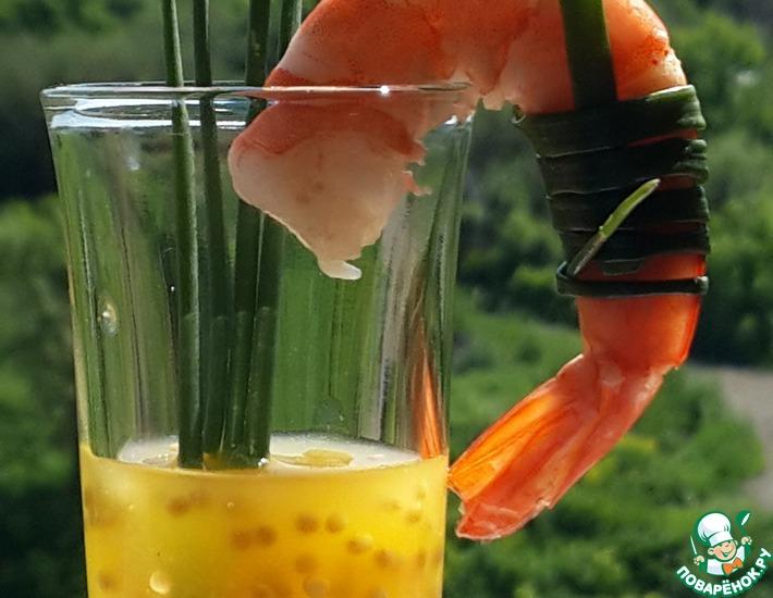 Рецепт: Креветки с апельсиново-горчичным соусом
