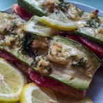 Форель с овощами