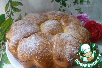 Рецепт: Сахарно-шоколадные булочки на закваске