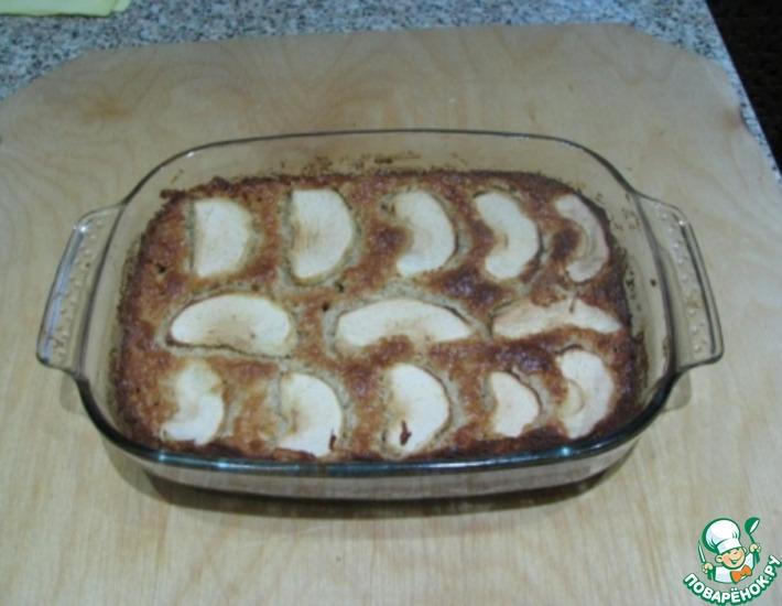 Рецепт: Запеканка из овсяных хлопьев и яблок
