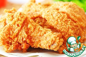 Рецепт: Курица как в KFC в домашних условиях