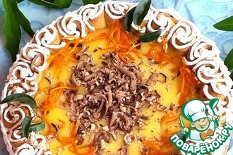 Рецепт: Апельсиновый пирог Оранжевое небо