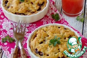 Рецепт: Пирог с фасолью и грибами