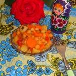 Овощное рагу с тыквой и нутом