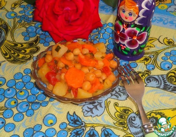 Рецепт: Овощное рагу с тыквой и нутом