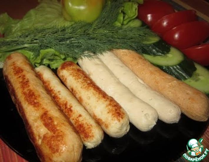 Рецепт: Домашние куриные сосиски