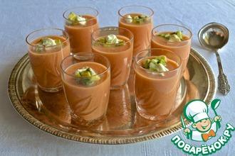 Рецепт: Холодный суп из гороха нут с сальсой