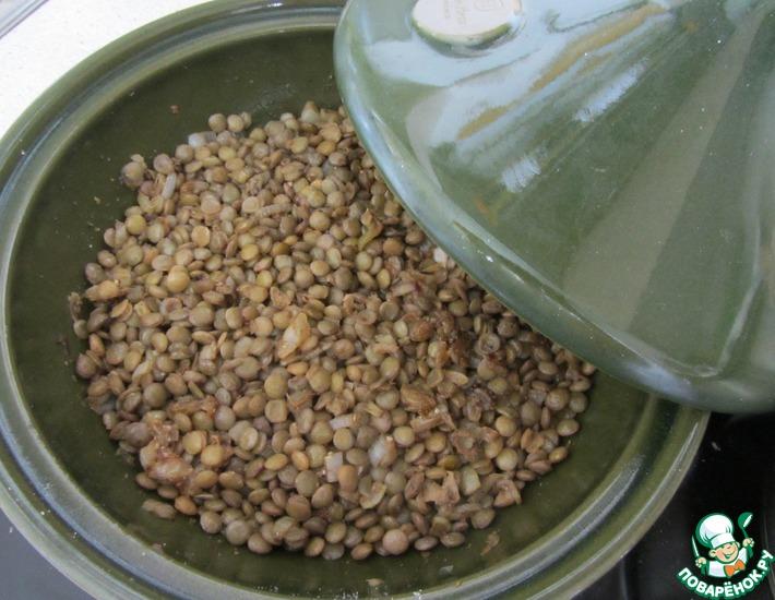 Рецепт: Пряное чечевичное рагу