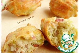 Рецепт: Соленое печенье Мадлен с горохом