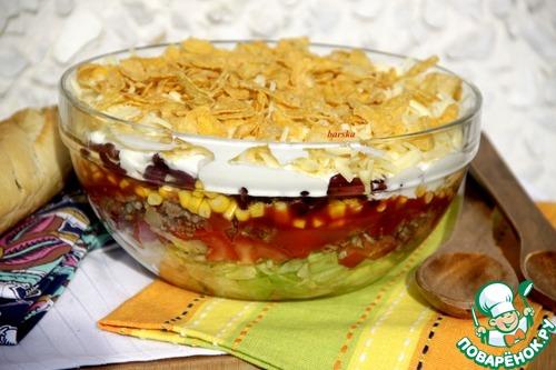 Мексиканский слоеный салат – кулинарный рецепт