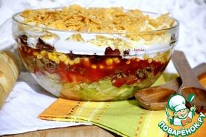 Мексиканский слоеный салат