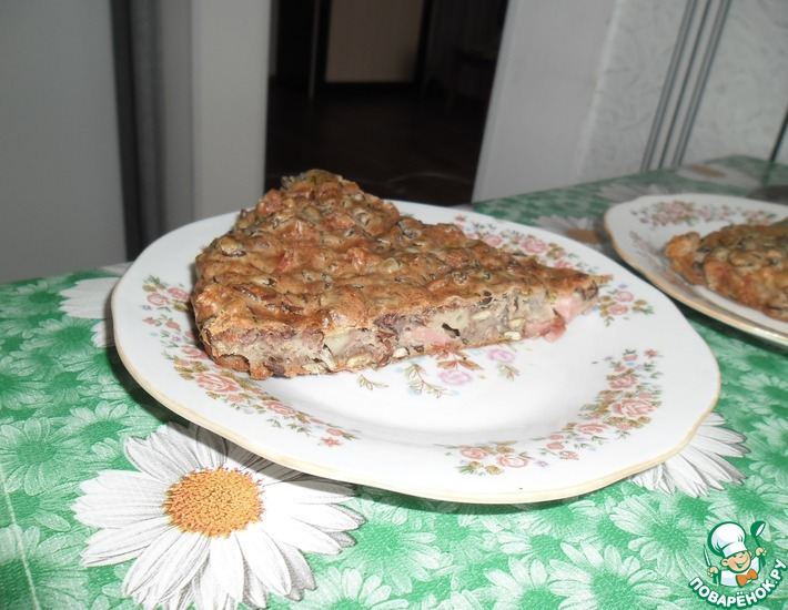 Рецепт: Пирог с чечевицей