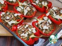 Фаршированный перец с киноа, овощами и грибами ингредиенты