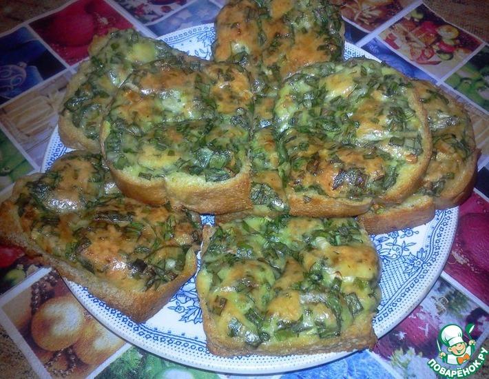 Рецепт: Бутерброды с яйцом, сыром и зеленью