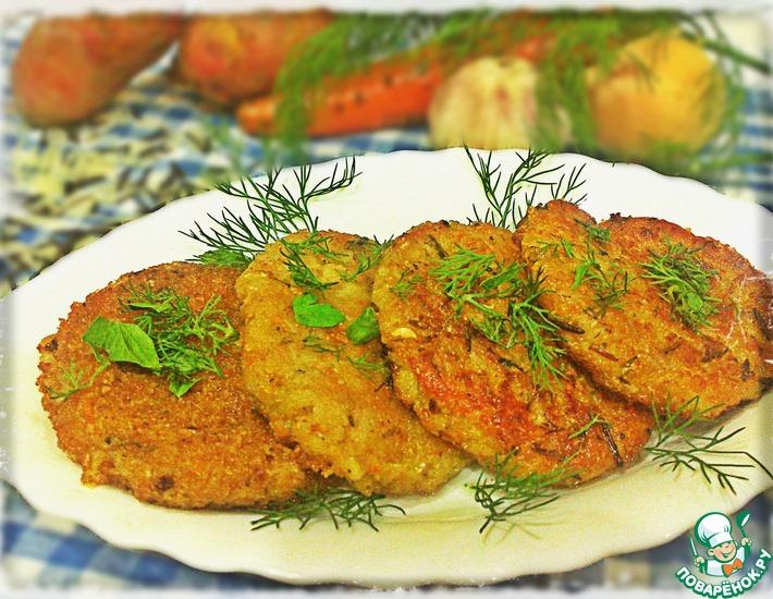 Рецепт: Овощные котлеты с диким рисом