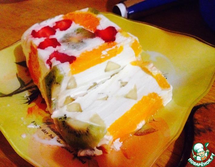 Рецепт: Диетический торт Нотка лета