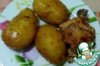 Рецепт: Картофель с курицей в скороварке