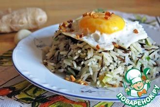 Рецепт: Имбирный жареный рис с яйцом