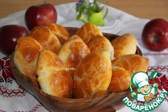 Рецепт: Быстрые пирожки с яблоками