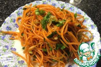 Рецепт: Морковча по-корейски