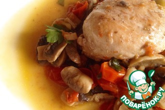 Рецепт: Куриная грудка с грибами и овощами Курица Супреме