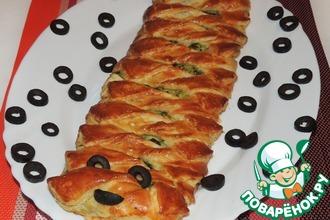 Рецепт: Пирог летний Гусеница