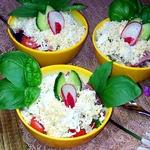 Салат овощной с диким рисом
