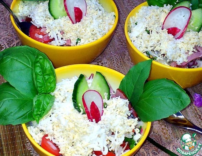 Рецепт: Салат овощной с диким рисом