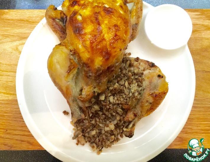 Рецепт: Курица, фаршированная гречкой Секреты