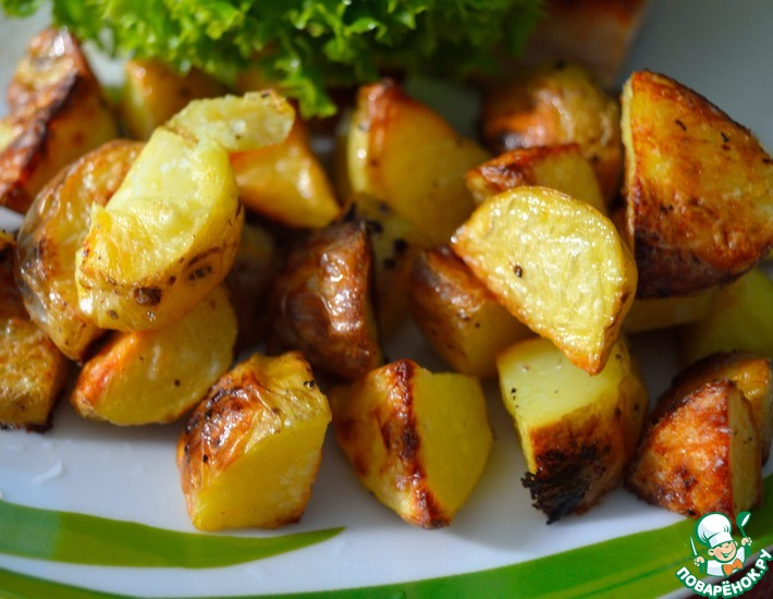 Рецепт: Запечённый картофель Минималистический
