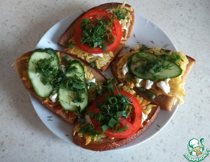Рецепт: Бутерброды с картофелем