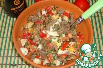 Рецепт: Сытный салат Краски лета