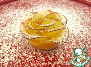 Рецепт: Слойки Яблочные розы