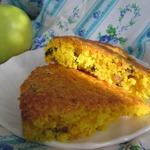 Постный лимонный кекс с изюмом